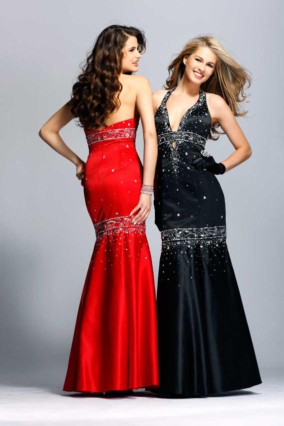 مدل لباس شب بلند و کوتاه شیک قرمز و مشکی